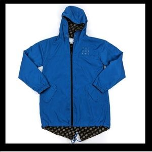 Dutch Bros | Reversible Blue Rain Jacket